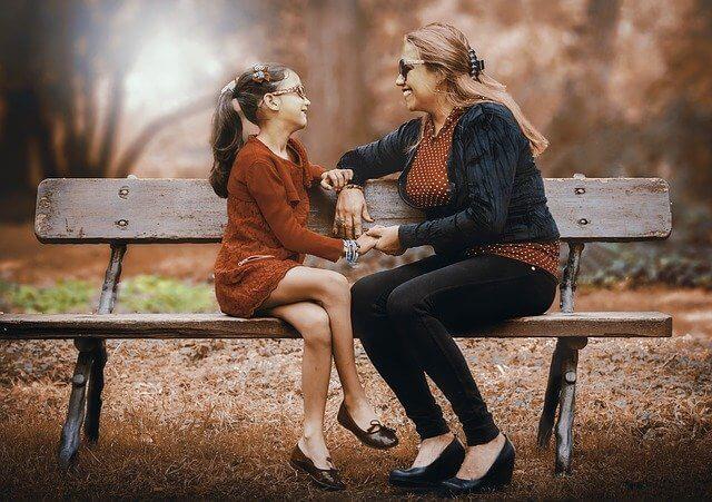Mutter, Tochter, Kind, Leichtigkeit